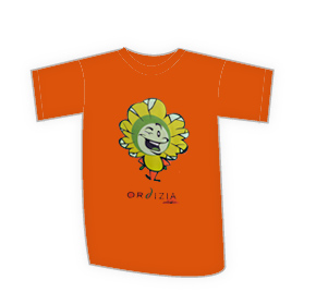 Kamiseta haurra naranja